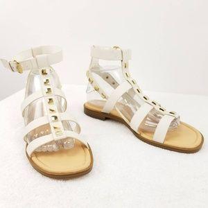 Marc Fisher Felice Studded Flat Gladiator Sandal 9